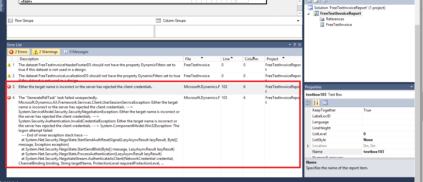 Error While deploying SSRS Report - Microsoft Dynamics AX Forum